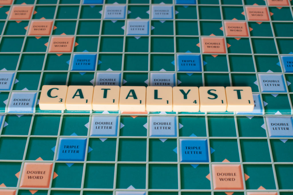 Scrabble board 'catalyst'